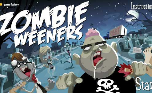 Click to play Zombie Weeners